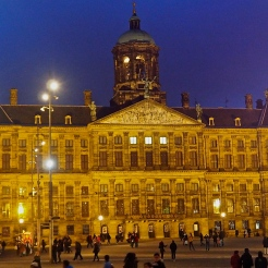 The Dam Palace at Dam square at early evening