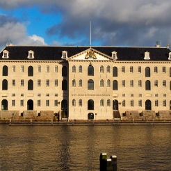 National Maritime Museum Amsterdam at afternoon