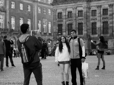 Tourists at Dam Square - Olympus E-M10