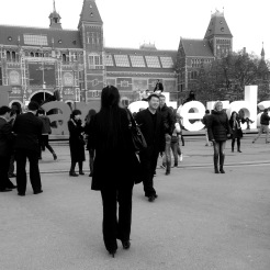 Chinese Tourists at Rijksmuseum afternoon Iphone 5