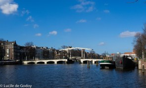 Skinny Bridge at Amstel river