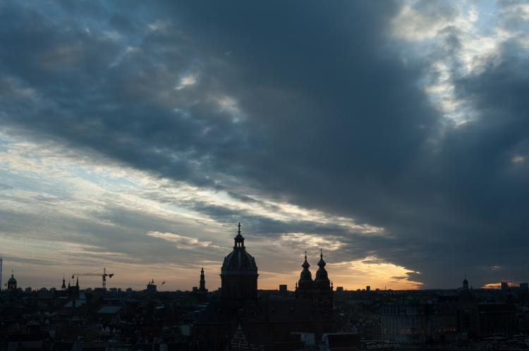 The city at sunset -- Amsterdam, Netherlands (April 2015) Nikon D700 + Nikon 50/1.4 (Photo credit: Andy Townend)