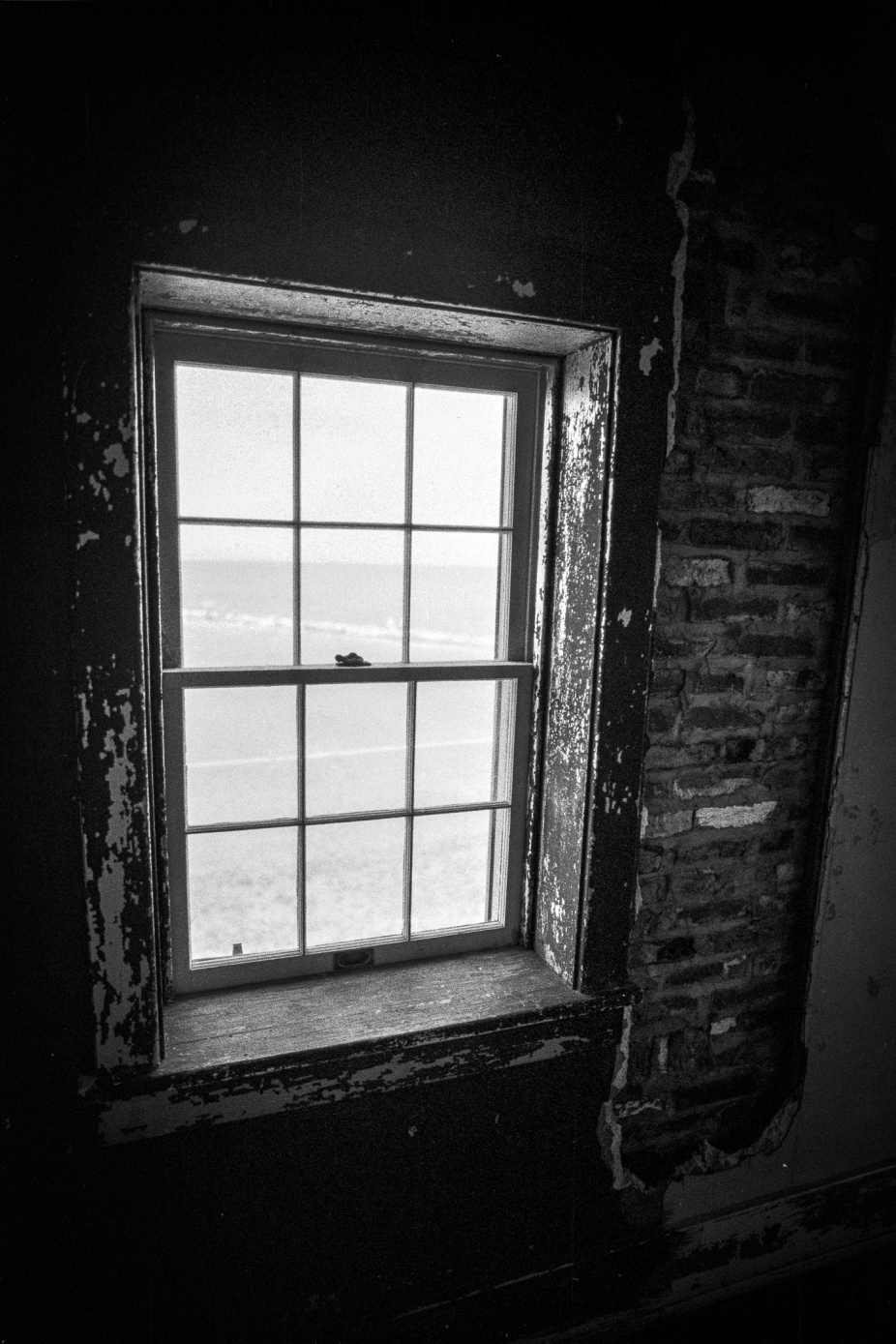 Point Lookout lighthouse window view -- Point Lookout, Maryland (June 2015)Leica M3 + Eastman Double-X (5222) + Leica Summilux 21/1.4 ASPH
