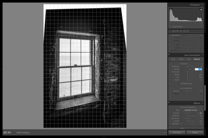 Making the verticals parallel to the image sides